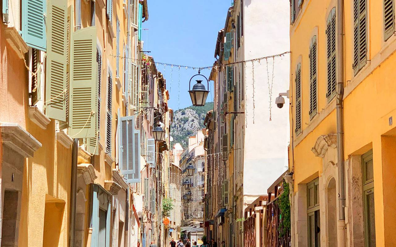 Street near our Luxury hotel in Toulon