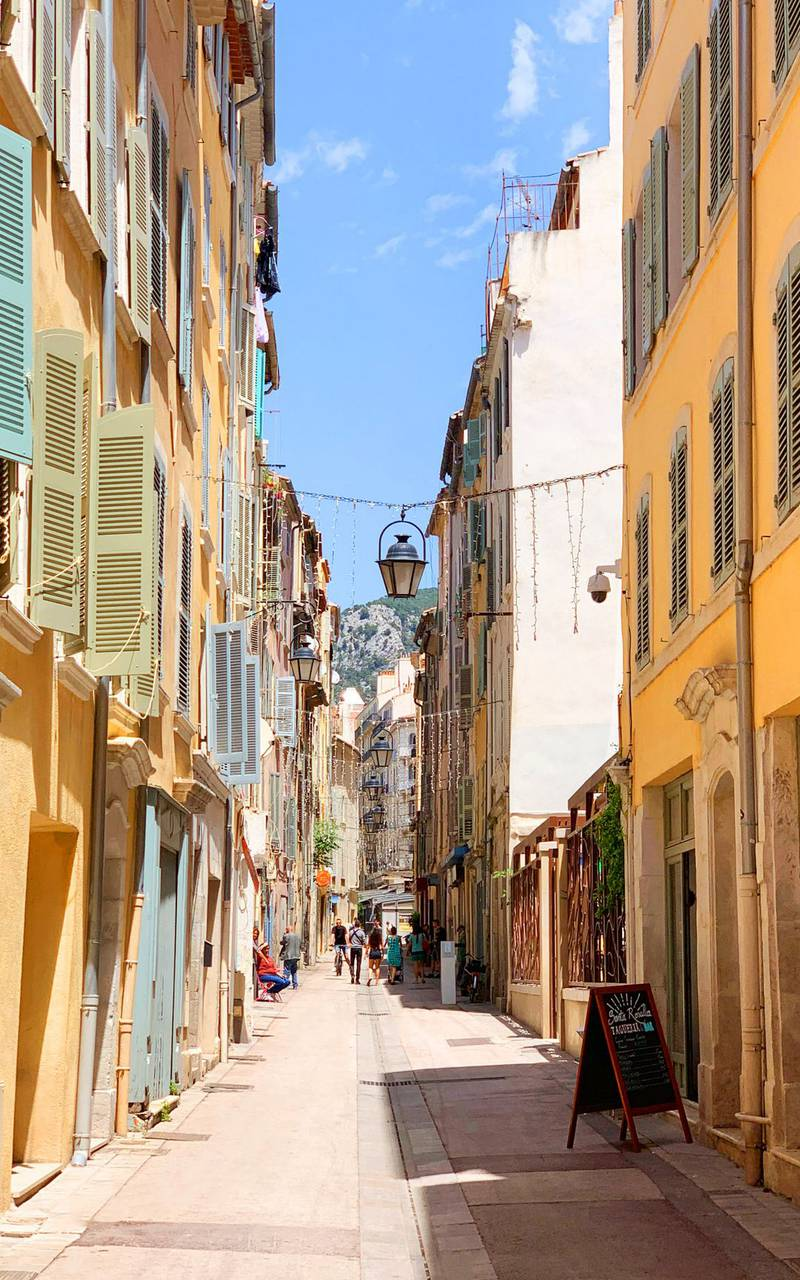 street in the old Toulon weekend Var